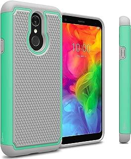 CoverON [HexaGuard Series] LG Q7 Case, LG Q7 Plus Case, LG Q7 Alpha Case, Heavy Duty Dual Layer Hybrid Phone Cover for LG Q7 / Q7 Plus / Q7 Alpha - Teal/Grey
