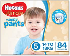 Huggies Ultimate Nappy Pants, Boys, Size 5 Walker, 14-18kg, 84 Count