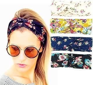 WAFJAMF Elastic force headbands for women,hair accessories-4 packs