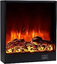 Gyubay Chimeneas Eléctricas Calentador eléctrico de Chimenea con Control Remoto Stand-Stand-Stand-Stand-Son-SHIRTY Ajustable LED Llama Fireplace Plug-In Efecto de Fuego Real