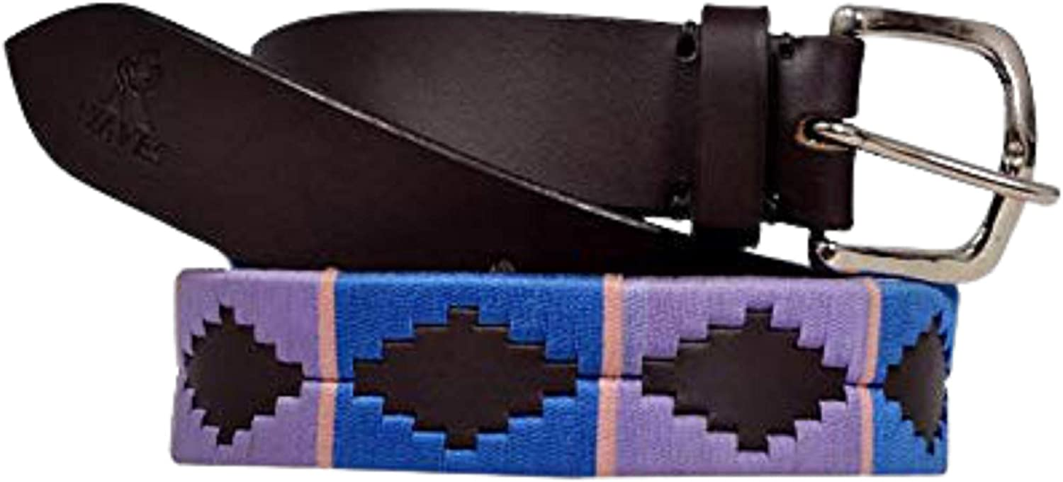 R waves unisex-adult 2021 model Argentine Inexpensive Belts Hand Polo Belt Woven