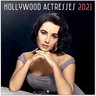 Grupo Erik CP21039 Calendario 2021 da Muro Hollywood Actress, calendario 2021 da muro vintage, 16 mesi, 30 x 30 cm