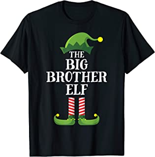 Big Brother Elf Matching Family Group Christmas Party Pajama T-Shirt