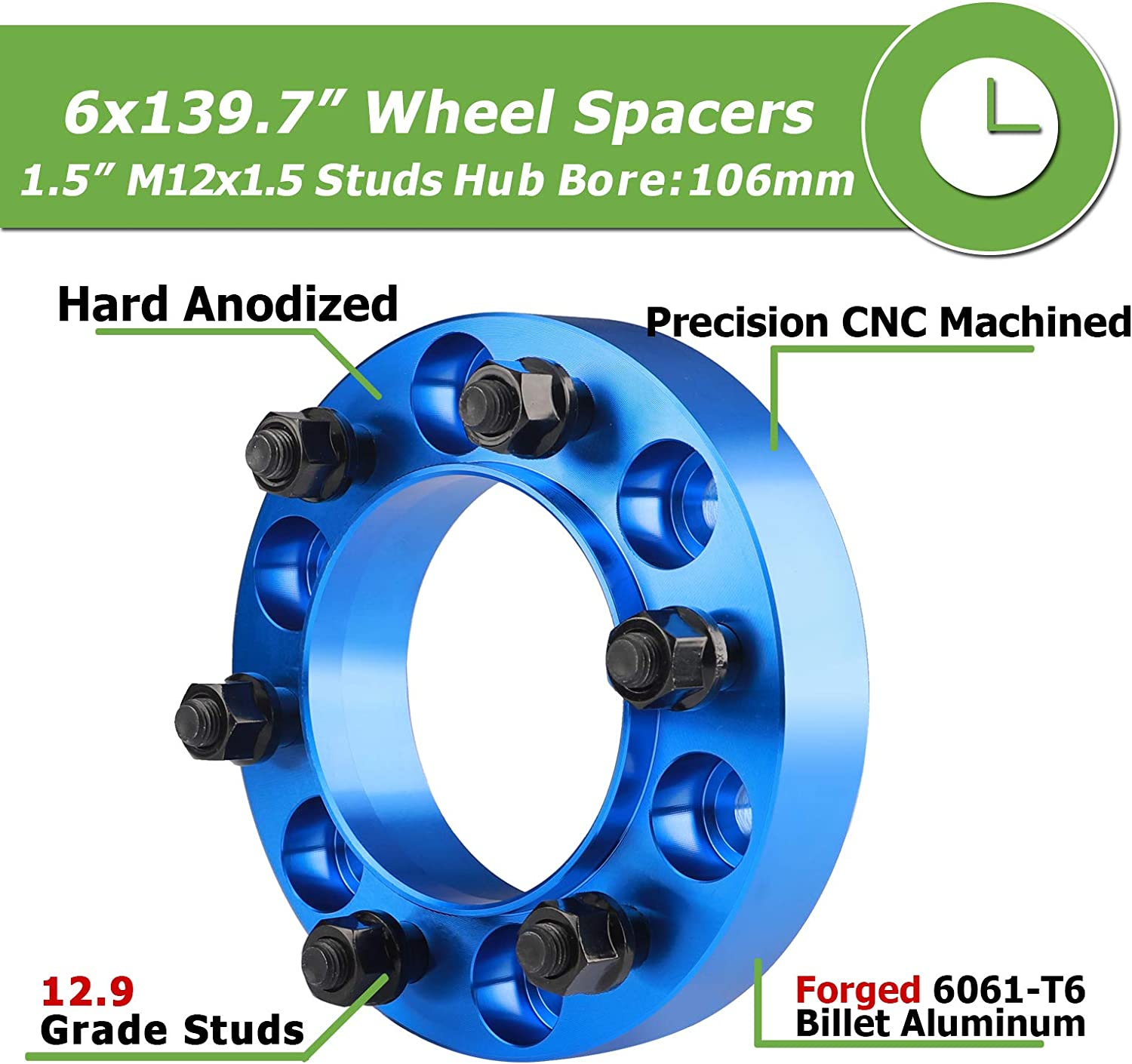 Wheel Adapters & Spacers Rying 4PCS 6x5.5 Wheel spacers for Tacoma ...