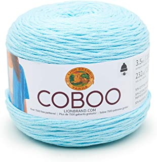 Lion Brand Yarn 835-106 Coboo Yarn, Ice Blue