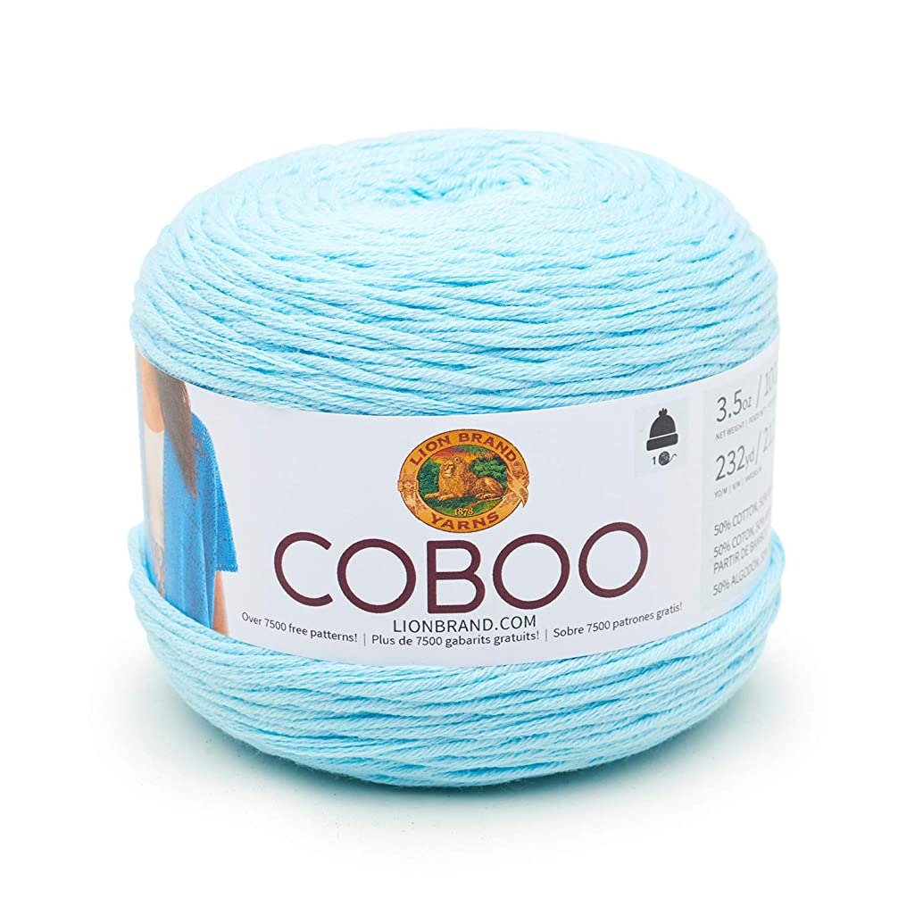 Lion Brand Yarn 835-106 Coboo Yarn, Ice Blue