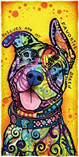 Dawhud Direct Dean Russo Rescues are My Favorite Breed Cotton Beach Towel