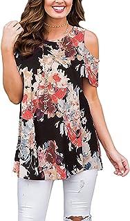 Viracy Women's Sleeveless Adjustable Strappy Summer Beach Floral Swing Dress
