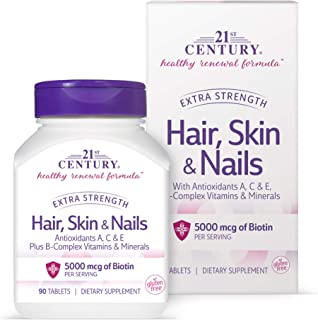 21st Century Hair, Skin and Nails Extra Strength Tablets, 90 Count (27847)