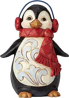 Enesco Jim Shore Heartwood Creek Mini Penguin with Ear Muffs Figurine, 3.75
