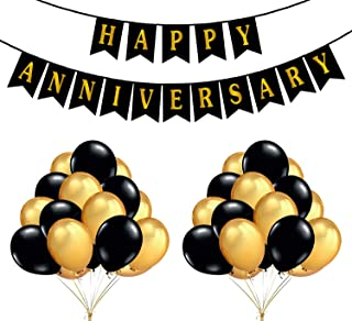 Party Propz Happy Anniversary Decoration Combo 51 Pcs For Anniversary Decoration Or Anniversary Party Supplies
