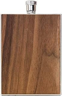 WOODCHUCK USA Wooden 3 oz Flask in Walnut - 100% Premium Wood