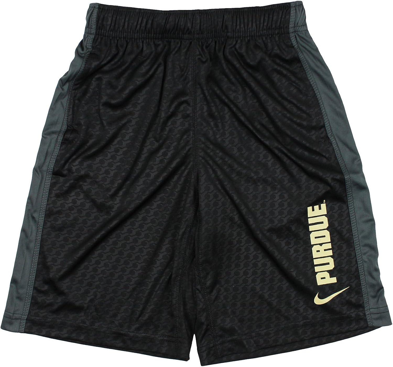 Nike Jungen Youth Purdue Boilermakers NCAA Big Drifit Athletic Shorts, Schwarz
