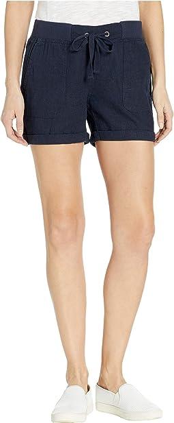 "5"" Rolled Cuff Shorts w/ Knit Waistband"