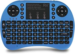Best (Upgraded) Rii 2.4GHz Mini Wireless Keyboard with Touchpad&QWERTY Keyboard, Backlit Portable Keyboard Wireless with Remote Control for Laptop/PC/Notebooks/Windows/Mac/TV/Xbox/PS3.(i8+ Blue) Reviews