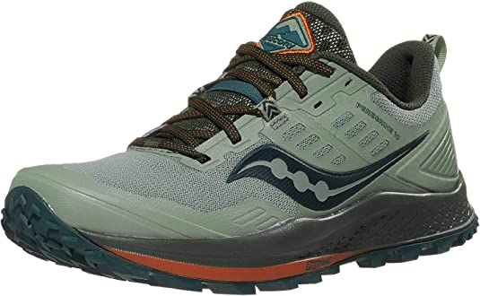 Saucony Peregrine 10 Mens Wide Black Red Hiking Trail Running Sneakers S20557-20