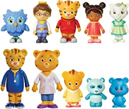 Daniel Tiger's Neighborhood Friends & Family Figure Set (10 Pack) Includes: Daniel, Friends, Dad & Mom Tiger, Tigey & Exclusive Figure Pandy [Amazon Exclusive]