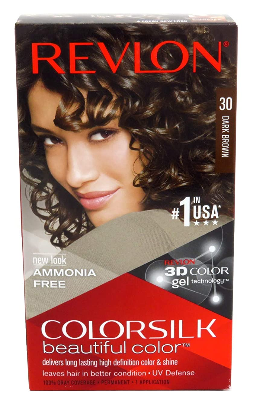母音追放歯科医Revlon Colorsilk Hair Color 30 Dark Brown, by Revlon