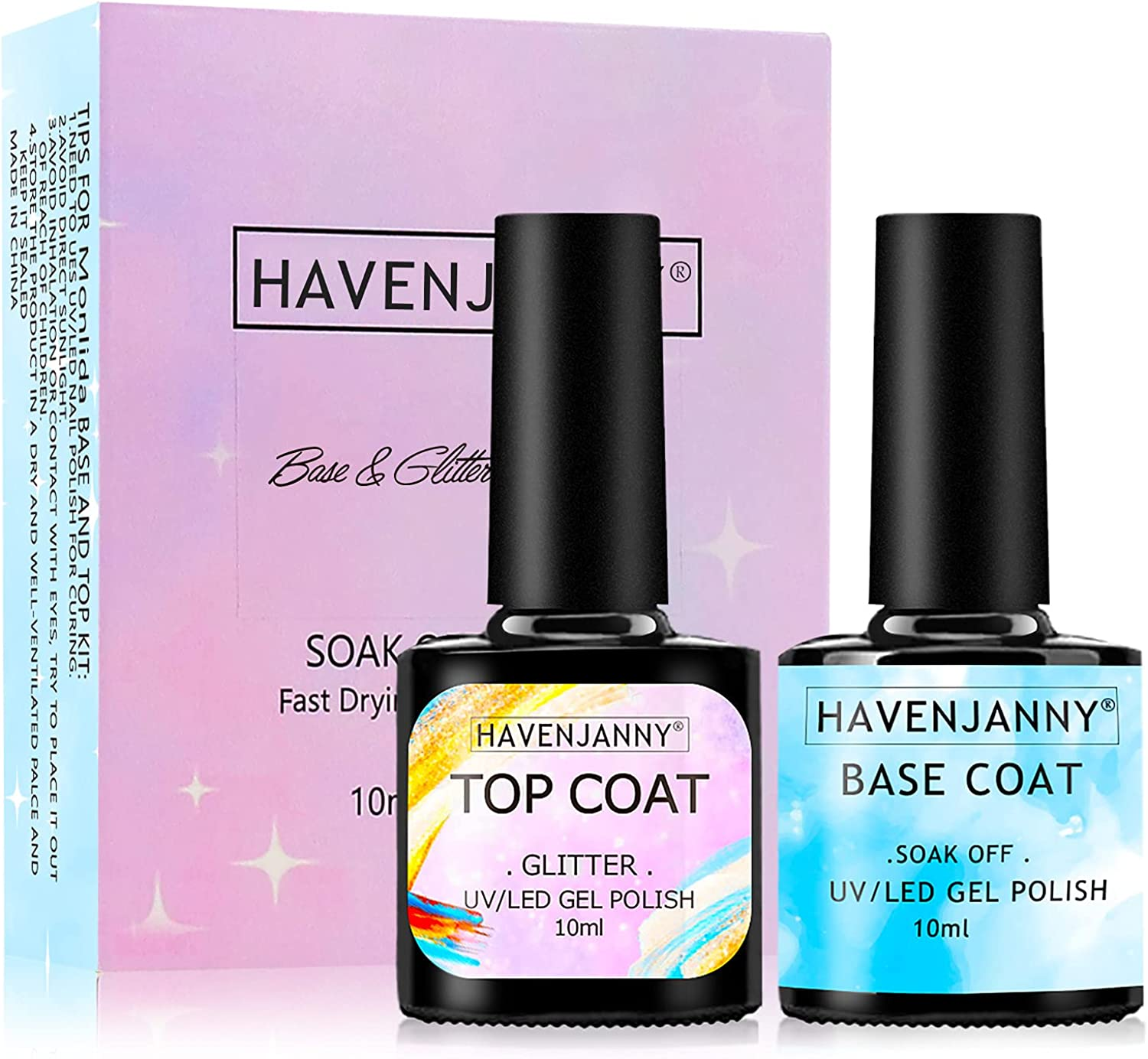 HavenJanny Glitter Top Coat Cheap super special price National products Se Base and