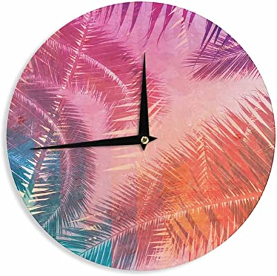 Kess InHouse EBI Emporium Je TAime II Abstract Pink Wall Clock 12