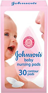 JOHNSON'S Baby Nursing Pads, pack of 30 contour pads