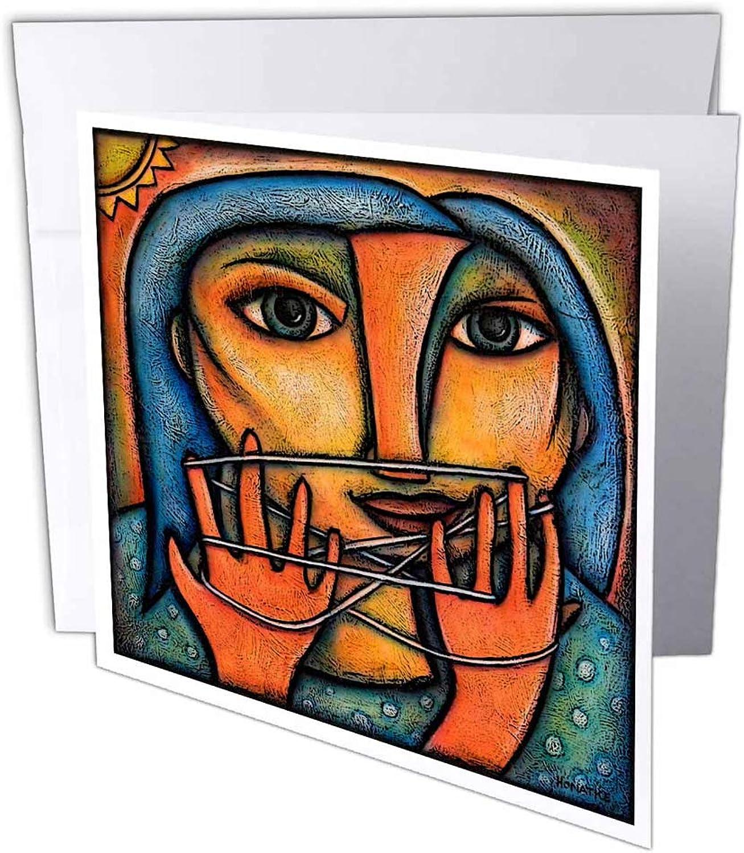 3dRosa gc_21125_1 Grußkarte Cats Cradle Woman String String String Abstrakte Figur, bunt, 6 Stück B07BJCQ1N7 | Exquisite (in) Verarbeitung  503046