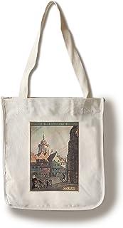 Colmar - Chemins de Fer d`Alsace et de Lorraine (artist: Hansi) France c. 1921 - Vintage Advertisement (100% Cotton Tote B...