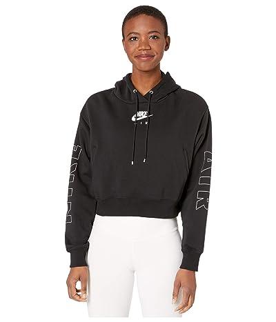 Nike NSW Air Hoodie Fleece (Black/Ice Silver) Women