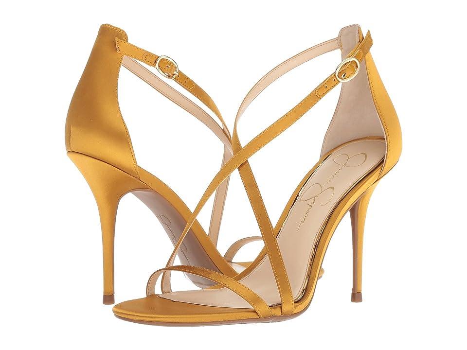 aa436c5d6be3 Jessica Simpson Aisha (Merigold Crytal Satin) Women s Shoes