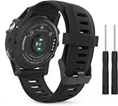 MoKo Band Compatible with Garmin Fenix 3/Fenix 5X, Soft Silicone Replacement Watch Band for Garmin Fenix 3/Fenix 3 HR/Fenix 5X/5X Plus/D2 Delta PX/Descent Mk1 Smart Watch - Black