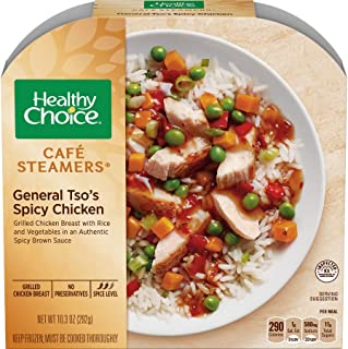 Healthy Choice Cafe Steamers General Tsos Spicy Chicken, 10.3 Ounce -- 8 per case.