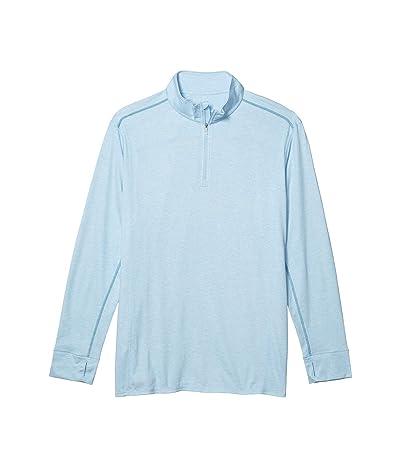 Tommy Bahama Big & Tall Palm Valley IslandZone Half-Zip Sweatshirt (Light Sky Heather) Men