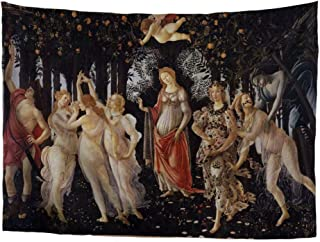 World Classic Art Masterpiece Tapestry Series Sandro Botticelli Primavera 1477–1482. Classical Art Tapestry Wall-Hanging Antique Vintage Collection Home Décor