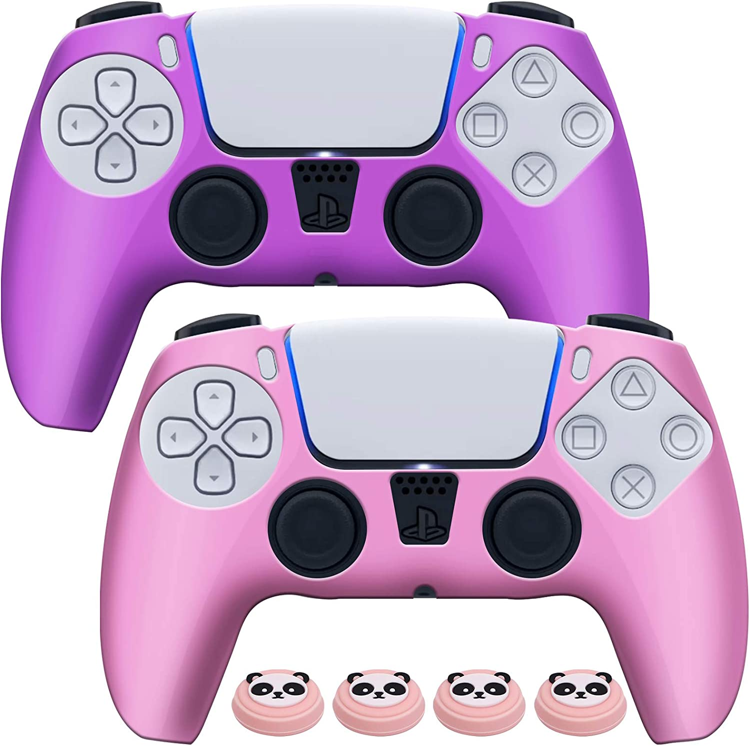 EZCO Max 89% OFF 2-Pack PS5 Controller Skins Protector Gr Attention brand Silicone Anti-Slip