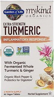 Garden of Life, MyKind Organics, Extra Strength Turmeric, Inflammatory Response, 60 Vegan Tablets