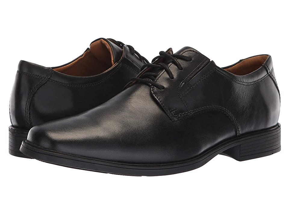 Clarks TildenPlain II (Black Waterproof Leather) Men