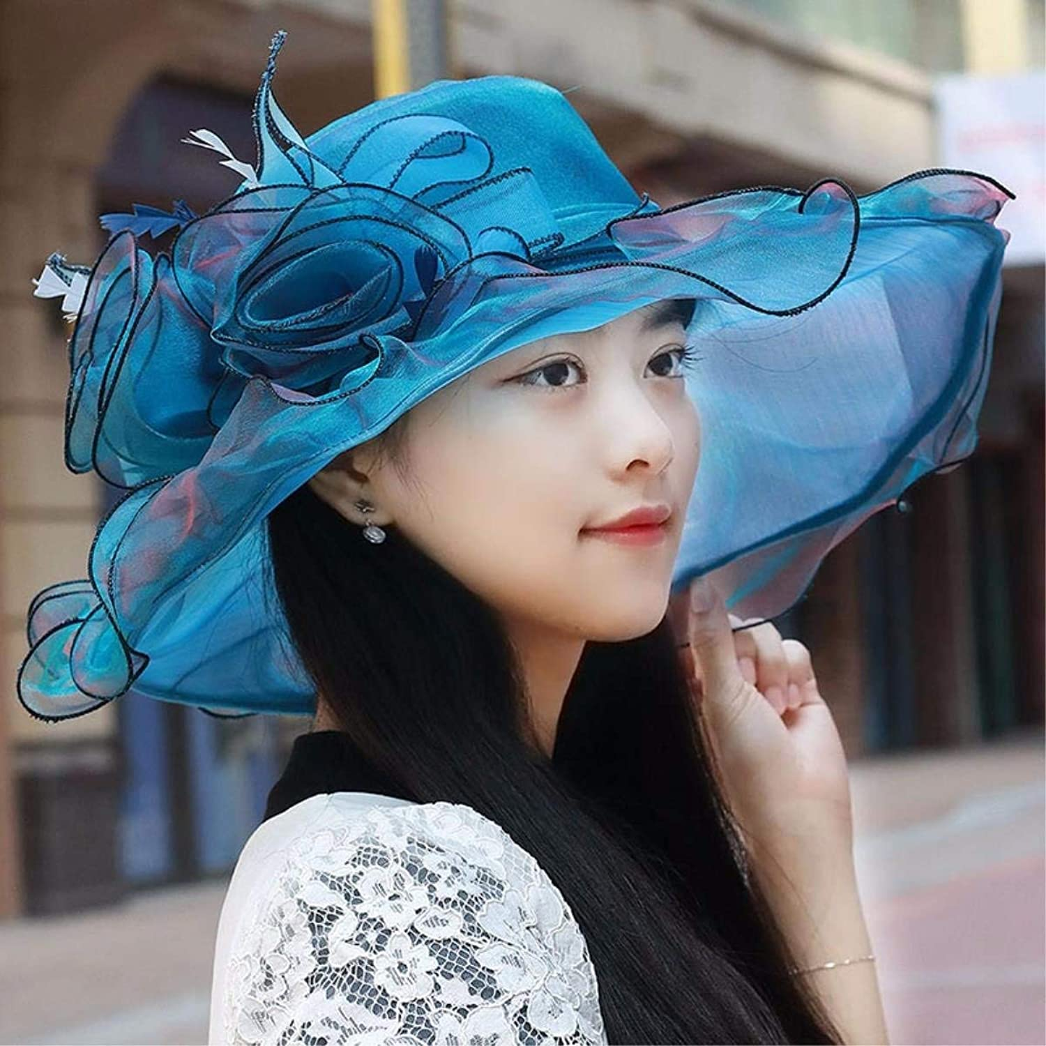 Dianye Hat the girl thin, breathable snow spinning cap gorgeous flowers visor sun hat beach hat sun hat new