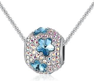 Lujo Abalorio Collar Mujer Pavé con Genuino Swarovski Cristales, Abalorios para Pulseras, Usos Múltiples, Mariposa o Estrella, 46CM