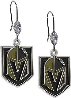 Siskiyou NHL Vegas Golden Knights Crystal Earrings