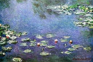 (24x36) Claude Monet (Water Lilies in blue) Art Print Poster