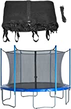 Trampoline Replacement Enclosure Net, Fits For 10 FT. Round Frames, With Adjustable Straps, Using 4 Poles or 2 Arches