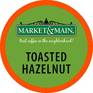 Market & Main OneCup, Toasted Hazelnut, Compatible with Keurig K-cup Brewers, 80 Count