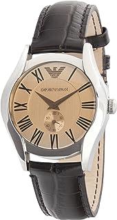 ساعة كوارتز للنساء من امبوريو ارماني، مع شاشة عرض كرونوجراف وسوار جلدي، طراز AR0646