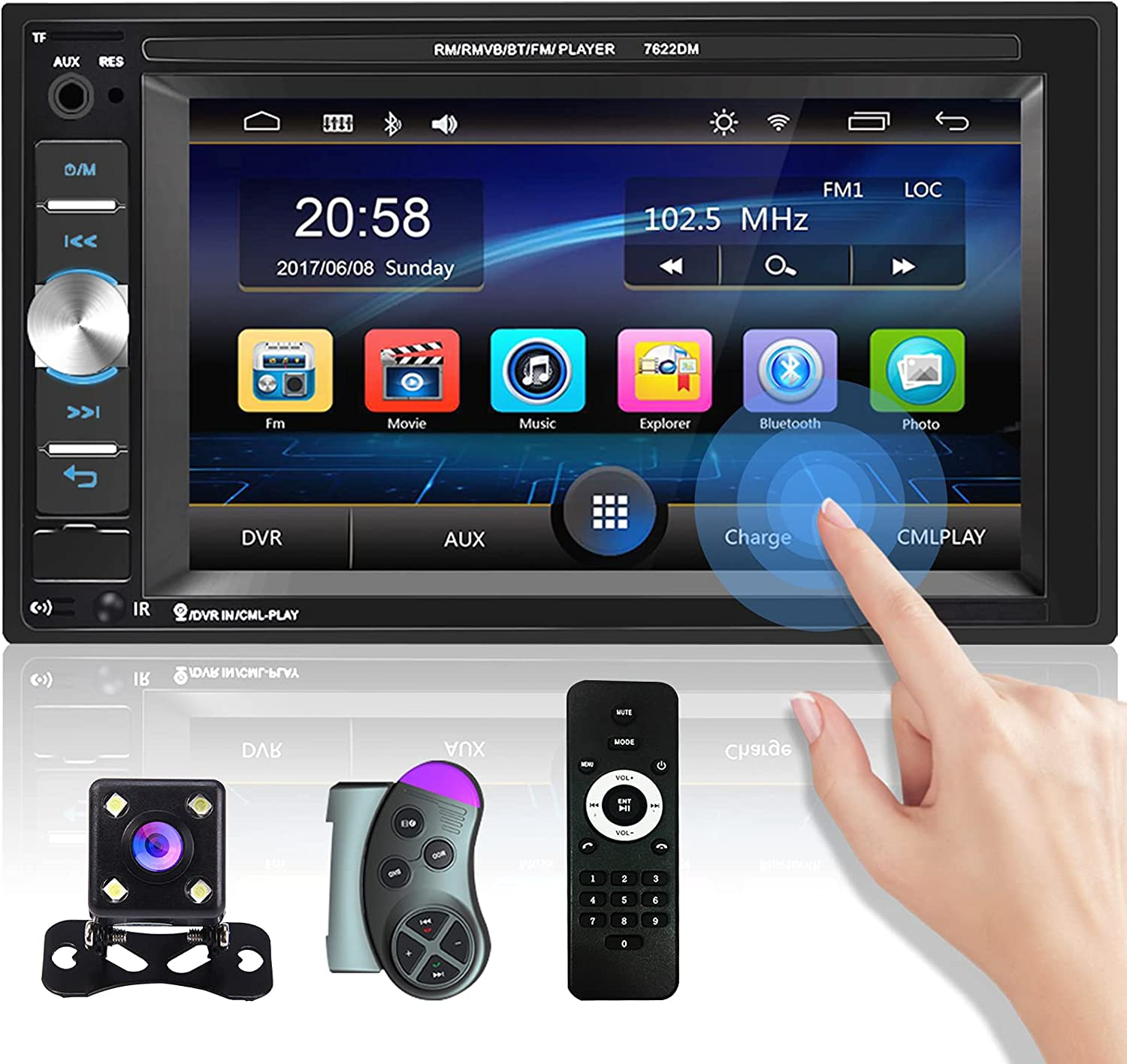 Double Din Car Stereo online shopping 6.2 Inch Bl Touch Radio Screen Japan's largest assortment Support