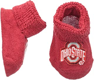NCAA Ohio State Buckeyes Infant Gift Box Booties, One Size, Red