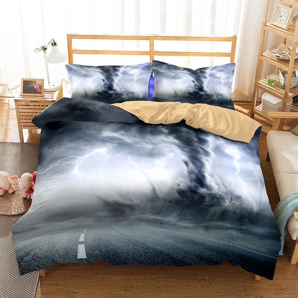 HoYoo 3D Printed Thunderstorm Bedding Limited price sale Three Sets Set Over item handling ☆ Duvet Cover