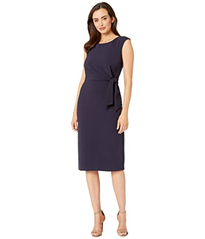 Tahari by ASL Sleeveless Crepe Sheath w/ Side Tie (Navy) Women