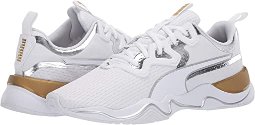 Puma White/Metallic Gold