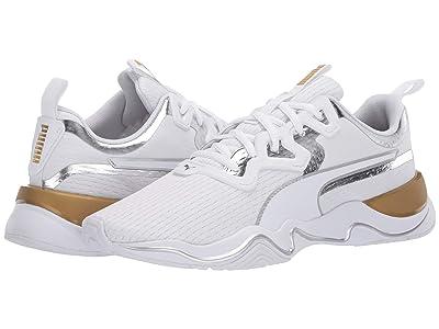 PUMA Zone XT Metal (Puma White/Metallic Gold) Women