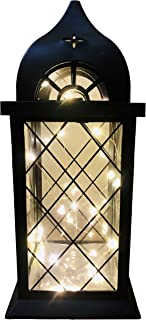 """Popuway 14"""" Vintage Decorative Lantern LED Big Wind lamp, Suitable for Banquet Decoration, Courtyard Setting, Indoor and O..."""